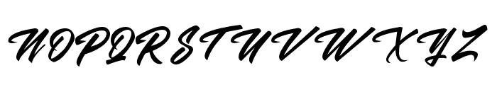 Malanaya Script Font UPPERCASE