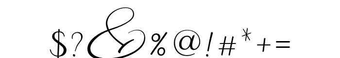 Malibu Regular Font OTHER CHARS