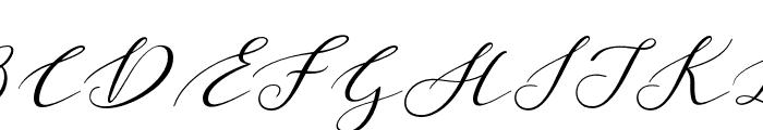 Malibu Regular Font UPPERCASE