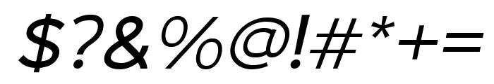 Malibu Sunset Sans Italic Font OTHER CHARS