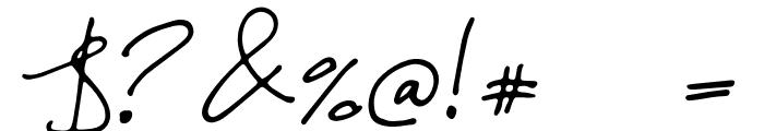 Malina Font OTHER CHARS