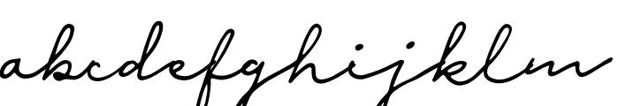 Malina Font LOWERCASE