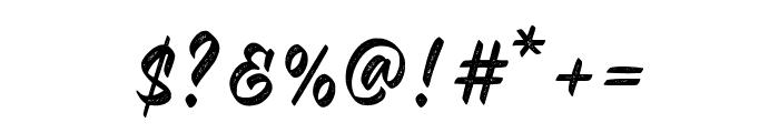 Malinsha Distressed-Regular Font OTHER CHARS