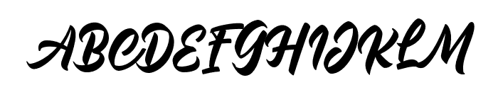 Malinsha Font UPPERCASE