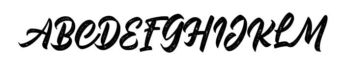 MalinshaDistressed-Regular Font UPPERCASE