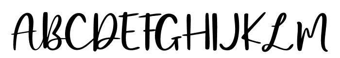 Mangosteen Font UPPERCASE