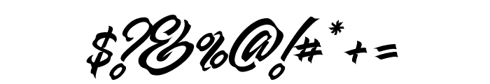 Manhattan Brush Font OTHER CHARS