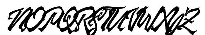 Manhattan Brush Font UPPERCASE