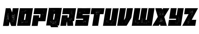Maniac Grunged Italic Font UPPERCASE