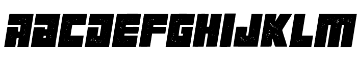Maniac Grunged Italic Font LOWERCASE