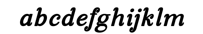 Manohara Black Italic Pro Font LOWERCASE