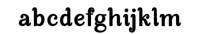 Manohara Black Pro Font LOWERCASE