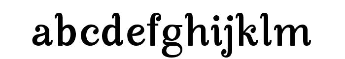 Manohara Bold Pro Font LOWERCASE