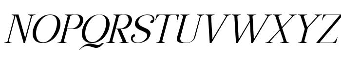 Manohara Light Italic Pro Font UPPERCASE