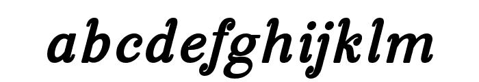 ManoharaBlackItalicPro Font LOWERCASE
