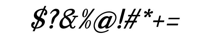 ManoharaBoldItalicPro Font OTHER CHARS