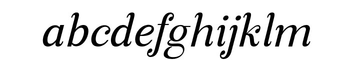ManoharaItalicPro Font LOWERCASE