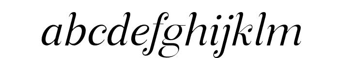ManoharaLightItalicPro Font LOWERCASE