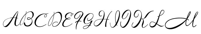 ManoharaScript Font UPPERCASE
