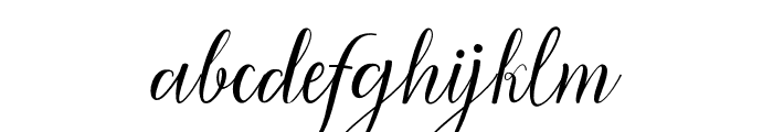 ManoharaScript Font LOWERCASE