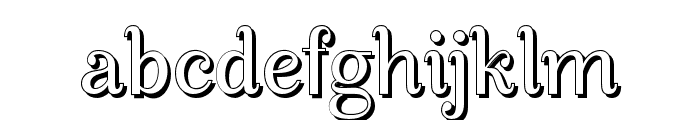 ManoharaShadowPro Font LOWERCASE