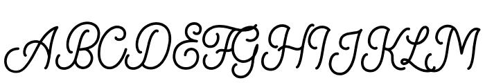 Marcela-Regular Font UPPERCASE