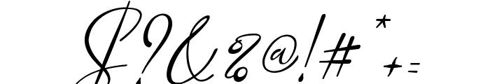 Marellia Script Italic Font OTHER CHARS