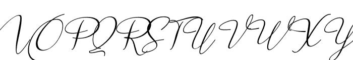 Marellia Script Italic Font UPPERCASE