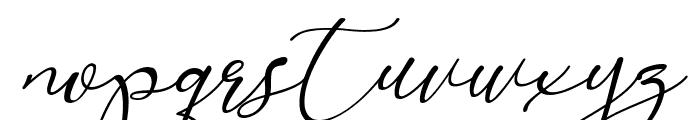 Marellia Script Italic Font LOWERCASE