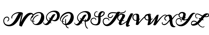 MarisaScript Font UPPERCASE
