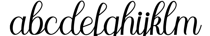 Marleigh Font LOWERCASE