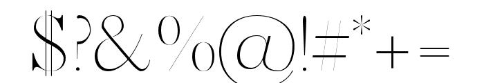 Marseille Regular Font OTHER CHARS