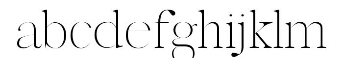 Marseille Regular Font LOWERCASE