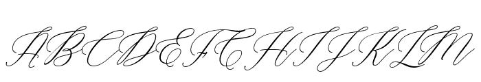 Marshella Italic Font UPPERCASE