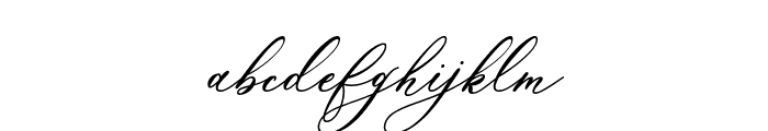 Marshella Italic Font LOWERCASE