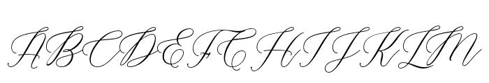 Marshella Font UPPERCASE