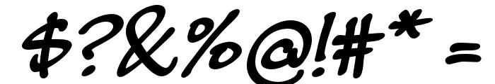 MasatoBoldItalic Font OTHER CHARS