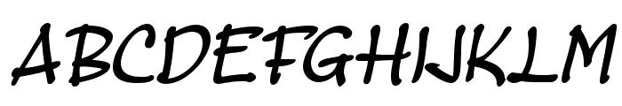 MasatoBoldItalic Font UPPERCASE