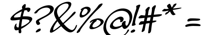 MasatoItalic Font OTHER CHARS