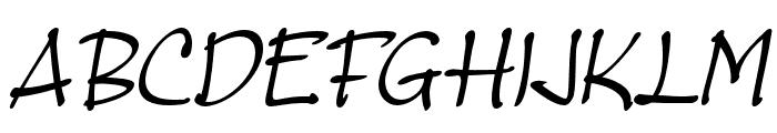 MasatoItalic Font UPPERCASE