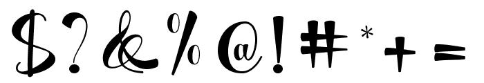 Matilda Script Font OTHER CHARS
