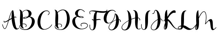 Matilda Script Font UPPERCASE