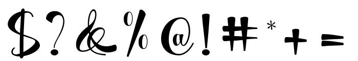 MatildaScript Font OTHER CHARS