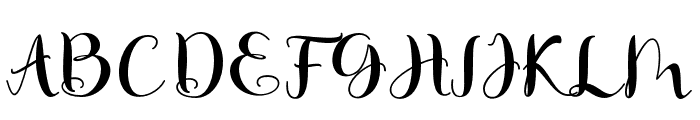 MatildaScript Font UPPERCASE