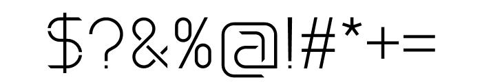 Maxellight Light-Sharp Font OTHER CHARS