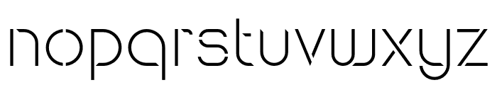 Maxellight Light-Sharp Font LOWERCASE