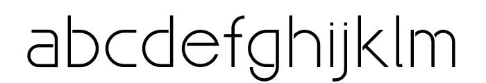 Maxellight Light Font LOWERCASE
