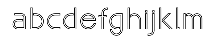 Maxellight Outline Font LOWERCASE