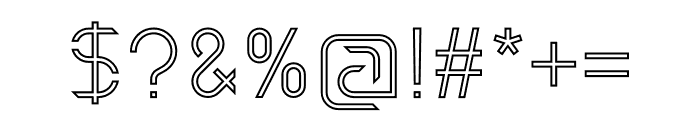 Maxellight Sharp-Outline Font OTHER CHARS