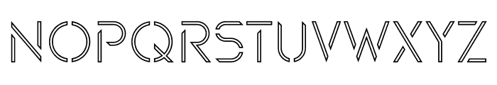 Maxellight Sharp-Outline Font UPPERCASE
